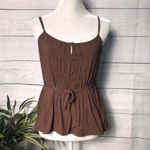 Theory Brown Belted Layered Cami - M